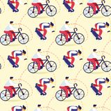 Seamless Pattern of Teens Extreme Sports Activity stock illustration