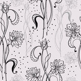 Seamless pattern with tender flowers Royalty Free Stock Photography