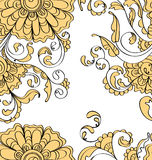 Seamless pattern with tender flowers Stock Photos