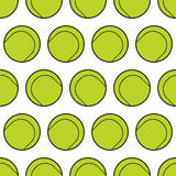 Seamless pattern with tennis balls.  Background for sports design Stock Images