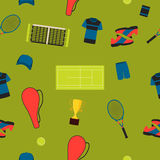 Seamless pattern tennis Royalty Free Stock Photography