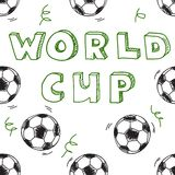 Seamless pattern with text. World cup. Stock Photo