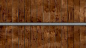 Seamless pattern background dark brown colored woody barrel fence oak planks with iron hoop. Seamless pattern texture background - dark brown colored woody royalty free illustration
