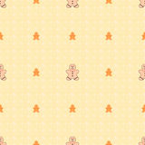 Seamless Pattern Texture. Seamless texture background with Ginger bread man for Christmas and other celebrations Stock Images