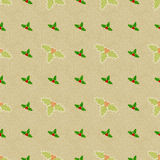 Seamless Pattern Texture. Seamless texture background with holly berry for Christmas and other celebrations Stock Images