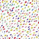 Seamless pattern or texture with colorful polka dots on white background Royalty Free Stock Photos