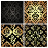 Seamless pattern texture with damask motif. Royalty Free Stock Photos