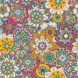 Seamless pattern texture. Indian, arabic, turkish style elements Royalty Free Stock Image