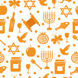 Seamless pattern, texture for the Jewish new year. Rosh Hashanah, Shana Tova background wallpaper. Vector illustration Royalty Free Stock Photo