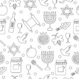 Seamless pattern, texture for the Jewish new year. Rosh Hashanah, Shana Tova background wallpaper. Vector illustration Stock Images