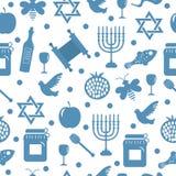 Seamless pattern, texture for the Jewish new year. Rosh Hashanah, Shana Tova background wallpaper. Vector illustration Royalty Free Stock Photography