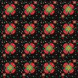 Seamless pattern. Texture with simple flowers Stock Photo