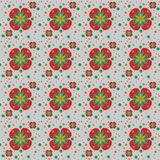 Seamless pattern. Texture with simple flowers Stock Photography
