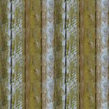 Seamless pattern of textured wooden plank wall with moss. Seamless pattern of very old wooden plank wall with moss for design and matte painting Royalty Free Stock Image