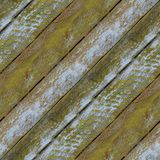 Seamless pattern of textured wooden plank wall with moss. Seamless pattern of very old wooden plank wall with moss for design and matte painting Stock Photography