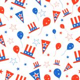 Seamless Pattern for 4th of July Stock Photography