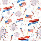 Seamless Pattern for 4th of July. Illustration of seamless pattern for 4th of July Stock Photography