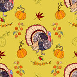 Seamless pattern Thanksgiving Royalty Free Stock Image