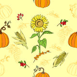 Seamless pattern Thanksgiving Stock Photos