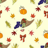 Seamless pattern Thanksgiving-03 Stock Images