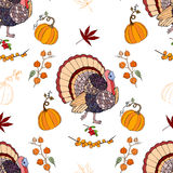 Seamless pattern Thanksgiving Stock Images