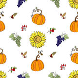 Seamless pattern Thanksgiving-022 Royalty Free Stock Photos