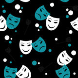 Seamless pattern with masks. Seamless pattern with theatre masks stock illustration