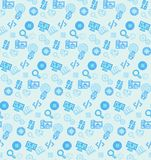 Seamless pattern on the theme of school and education Stock Photos