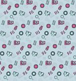 Seamless pattern on the theme of school and education Stock Image