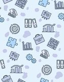 Seamless pattern on the theme of school and education. A seamless pattern on the theme of school and education. Subject sociology. Folders, puzzle, diagram and Stock Photography