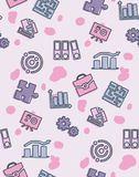 Seamless pattern on the theme of school and education. A seamless pattern on the theme of school and education. Subject sociology. Folders, puzzle, diagram and Royalty Free Stock Photography