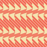 Seamless pattern of thick diagonal segments. Abstract seamless geometric pattern of thick diagonal segments in retro color palette Stock Images