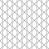 Seamless pattern with thin curved line, ovals, mesh, lattice. Stock Image
