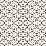 Seamless pattern with thin curved lines, delicate net, grid, lattice, lace, fishnet. Vector black and white mesh seamless pattern. Subtle abstract geometric Royalty Free Stock Photography