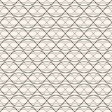 Seamless pattern with thin curved lines, weaving, mesh, lattice. Stock Photos