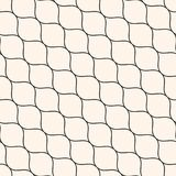 Seamless pattern, thin diagonal wavy lines, mesh texture. Vector seamless pattern, thin diagonal wavy lines. Texture of mesh, fishnet, lace, weaving, smooth grid Royalty Free Stock Photos