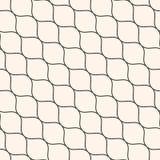 Seamless pattern, thin diagonal wavy lines, mesh texture Royalty Free Stock Photos