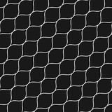 Seamless pattern, thin diagonal wavy lines. Vector seamless pattern, thin diagonal wavy lines. Subtle texture of mesh, fishnet, lace, weaving, smooth grid. Dark Stock Images