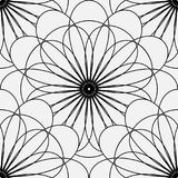 Seamless pattern of thin lines in the shape of a geometric flower. Royalty Free Stock Photography