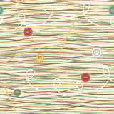 Seamless Pattern with Threads and Buttons Royalty Free Stock Photography
