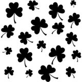 Seamless pattern with three leaf clovers for textile background, wallpapers, wrapping papers vector illustration