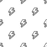 Seamless pattern with thunderbolts in comic style Stock Photography