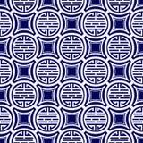 Seamless pattern on Tibetan motifs. Royalty Free Stock Photography