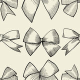 Seamless pattern with tie and bow Royalty Free Stock Photo