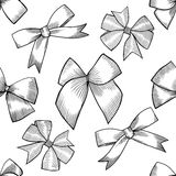Seamless pattern with tie and bow Stock Images