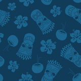 Seamless pattern of tiki Stock Photography