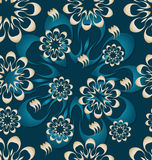 Seamless pattern tile with abstract flowers Royalty Free Stock Image