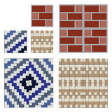 Seamless pattern tiles brick wall  Royalty Free Stock Images