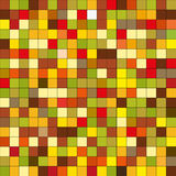 Seamless pattern tiles in bright warm autumn colours. Pixels Royalty Free Stock Images