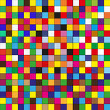Seamless pattern tiles in colorful. Pixels Royalty Free Stock Images